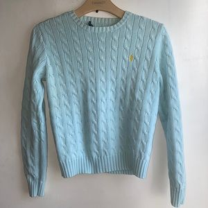 Ralph Lauren Baby Blue Cable Knit Sweater